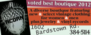 Acorn is an award-winnning diverse boutique featuring new and select vintage clothing for women and men plus jewelry and vinyl records!