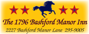 The 1796 Bashford Manor Inn...an inviting Bed and Breakfast in a setting filled with History.