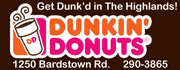 Drive through or walk in to our new Highlands location in front of the MidCity Mall for fresh donuts and a cup of our famous coffee!