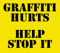 Graffiti Abatement Program - click to easily report graffiti so it can be removed quickly!