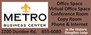 Setup your office or virtual office at Metro Business Center in the convenient and historic Douglass Loop