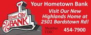 We're your Hometown Bank! Visit us at our new location at the corner of Bardstown Rd. & Taylorsville Rd.!