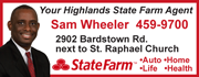 Sam Wheeler is your Highlands State Farm Agent!  Visit him at the corner of Bardstown Rd. and Lancashire or online at PlanWithSam.com!