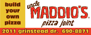 Build your own personal size pizza at Uncle Maddios!  Choose your dough, your sauce, and your toppings... ready in 6 minutes!